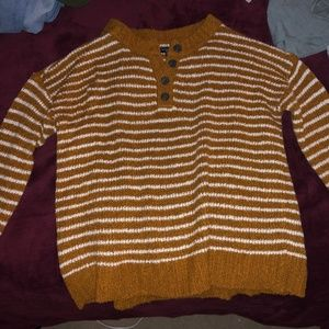 Orange striped American Eagle sweater